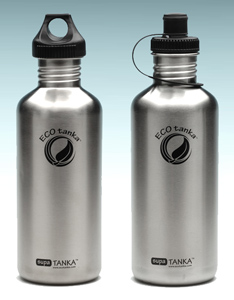 1000ml EcoTanka Stainless Steel Drink Bottle Water Safe TREKKA