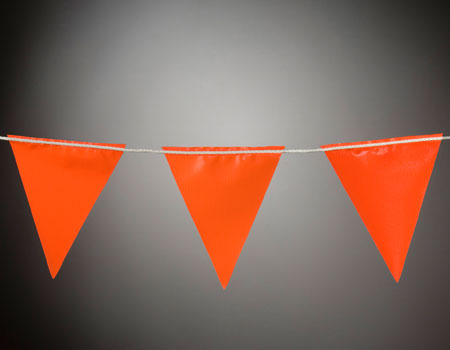 Safety Signs Safety Bunting Orange Flags Barrier Orange
