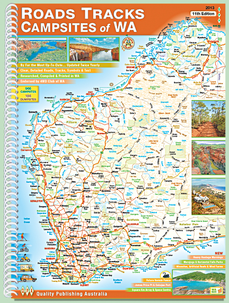 roads tracks wa campsites map book western australia 2015 12